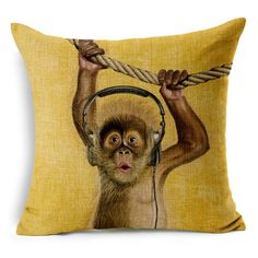 Cartoon monkey sofa cotton cushions Animal Throw Pillows #pillows #cushions #animal #monkey #cartoonpillow #style #fashion