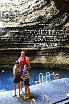 Swim inside The Homestead Crater in Heber Valley Utah. Water is 90-96º F.  #familytravel #utah