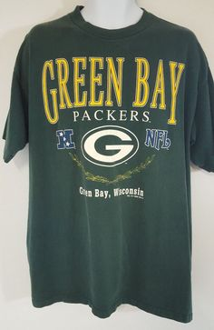 90da5489a Green Bay Packers T Shirt Top Mens Size XL Green Short Sleeve Vtg 1996 NFL  97