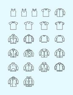Casual Wear Vector Icon Set