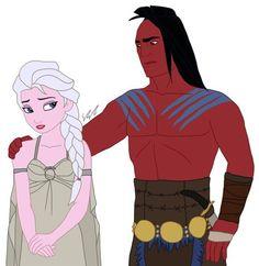 Elsa y Kocoum como Daenerys Targaryen y Khal Drogo