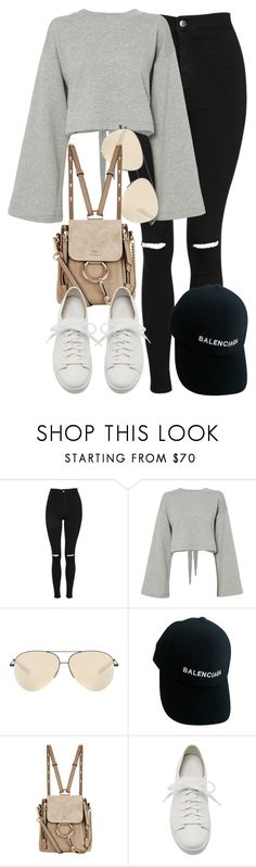 """""""Topshop x Chloe"""" by muddychip-797 ❤ liked on Polyvore featuring Topshop, T By Alexander Wang, Victoria Beckham, Balenciaga, Chloé, Giuseppe Zanotti, chloe, fashionset and Topshopstyle"""