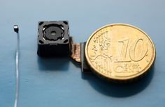 almost invisible, lens-free camera features 200 micron wide image sensor - designboom | architecture & design magazine