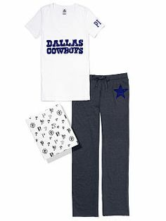 Dallas Cowboys V-neck Tee & Boyfriend Pant Gift Set