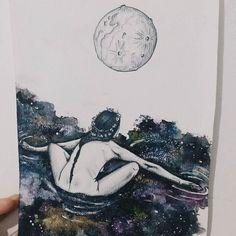 #Repost @dudsff  Mergulho no cosmos.  Presente feito com amor pra Isa.  Inspired by @chipwillis ph. Muse: Kelsey Dylan.
