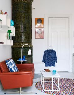 the fun, quirky and bright Stockholm home