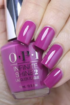 New OPI Spring 2016 Collection (grape fizz nails) jacquie creger jacquiecreger nail art PRESS SAMPLES Hiya Dolls! I am so excited to show you the gorgeous new OPI Infinite Shine Spring 2016 Collection. I am so impressed with the Infinite Shine polis Colorful Nail Designs, Acrylic Nail Designs, Acrylic Nails, Opi Nails, Manicure And Pedicure, Cute Nails, Pretty Nails, Opi Nail Colors, Plain Nails