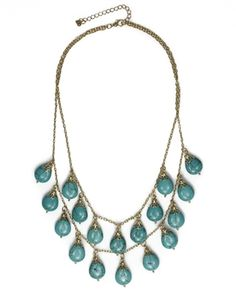 2-layer stone necklace - Make an elegant statement!