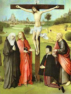 """""""Cristo crocifisso con i donatori e santi""""  - 1480-85 - «Musées Royaux des Beaux-Arts de Belgique» Bruxelles - Belgio"""