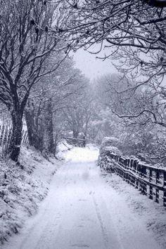 Beautiful Llangollen, Wales, after fresh snowfall. Winter Scenery, Winter Love, Winter Magic, Winter's Tale, Snowy Day, Snow Scenes, Winter Pictures, Winter Beauty, Jolie Photo