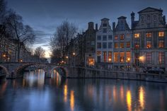 The City Lights in Amsterdam, Netherlands  Follow the pic for more awesome pics