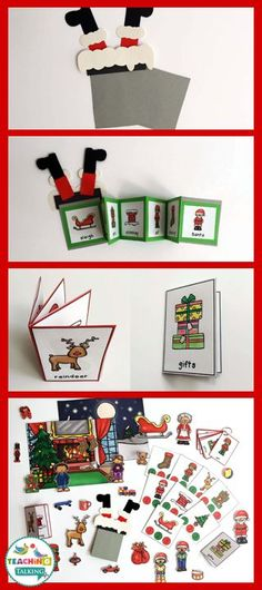 Christmas: Interactive Speech Therapy Activities & Foldables by http://teachingtalking.com