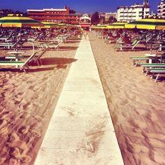 """Sun & sand at Bagno 44 in Rimini - """"See, Taste, Do! - Instagram Highlights from the Emilia Romagna Region of Italy"""" by @jeanettekramer"""