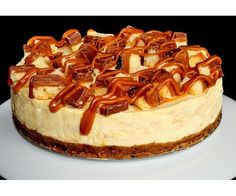 Caramel Shortcake : A digestive base with a creamy caramel cheesecake, topped with our handmade