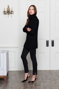 Great black skinny pants.