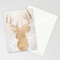 Modern deer Stationery Cards by Pentagonixmedia | Society6