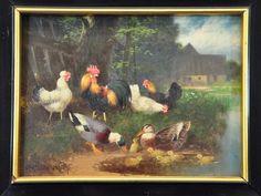 https://shop.kusera.de/Otto-Scheuerer-Painting-chickens-and-ducks-on-the-pond