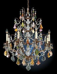"Schonbek Gallia Collection 28"" Wide Crystal Chandelier   LampsPlus.com"