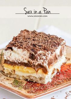 A dessert bond with extraordinary name united with exceptional taste. Various opinions will rise up upon hearing this dessert's name. What is really this dessert, and how to serve one? This dessert… Brownie Desserts, Desserts To Make, Brownie Trifle, Cold Desserts, Light Desserts, Easy No Bake Desserts, Cheesecake Desserts, Raspberry Cheesecake, Sweet Recipes