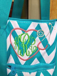 Stethoscope Monogram Weekender/Tote Bag by ShopDaintyDandelion