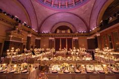 Weylin B. Seymour's   A New York treasure back to life as a versatile and awe-inspiring event venue. Originally built in 1875 as the Williamsburg Savings Bank, this masterfully restored multi-level space features two soaring 110 ft. domes over mosaic marble floors. Photo courtesy of Weylin B. Seymour's. www.greatplacesdirectory.com #nyvenues #greatplacesdirectory