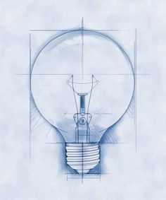 Lightbulb moment! Been mulling over an idea the past week. I chose this blueprint image of a lightbulb because a blueprint is how I see it. - Feb 1,14 #Life2014