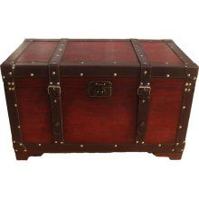 Exceptional Phat Tommy Old School Antique Style Retro Decorative Steamer Storage Trunk