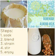 How To Make Homemade Almond Milk and Flour