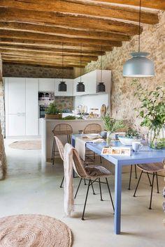 home decor decoration Kitchen Room Design, Home Decor Kitchen, Cottage Living Rooms, Beautiful Kitchens, Home Interior Design, Kitchen Remodel, Sweet Home, New Homes, House Design