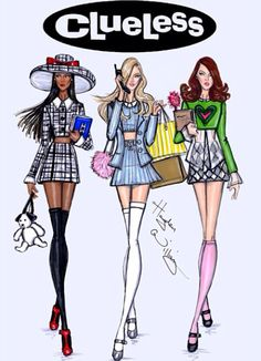 Another amazing drawing of the girls by Hayden Williams (Dionne, Cher, and Tai)