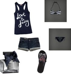 summer day at the beach, created by isla614 on Polyvore