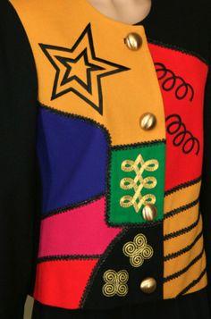 Lilli Ann - Veste Multicolore - Années 80