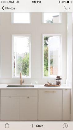 Simple white matte cabinets
