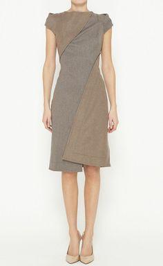 Grey & Tan Dress.