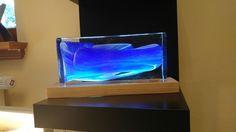 Beleuchtete Glasbausteine laden zum Wohlfühlen ein.