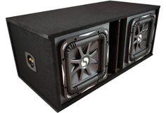 Kicker Car Audio Loaded Sub Box With Dual 12-Inch L7 Series S12L7 Subwoofers #SubBox