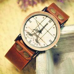Stan vintage watches — Handmade vintage style   Leather Quartz Watch