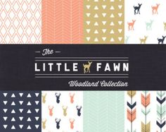 The Little Fawn Woodland Collection Crib Bedding Set - Girl Woodland Custom Crib Bedding - Choose your fabric - CozybyJess Exclusive