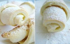 Madly tasty and tender rolls of cottage cheese dough Slow Cooker Recipes, Cooking Recipes, Cheese Bagels, Russian Cakes, European Cuisine, Sweet Bakery, Homemade Cheese, Food Shows, Russian Recipes