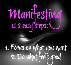 Manifesting in 2 Easy Steps http://goodvibeblog.com/manifesting-101-law-of-attraction-basics/