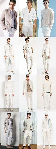 Men's All-White Outfit Inspiration Lookbook, a sight that will delight!