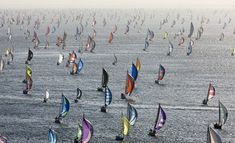 Round the Island Race, UK (1,700 yachts in the fleet)  - I'm sure Heaven must look a little bit like this!