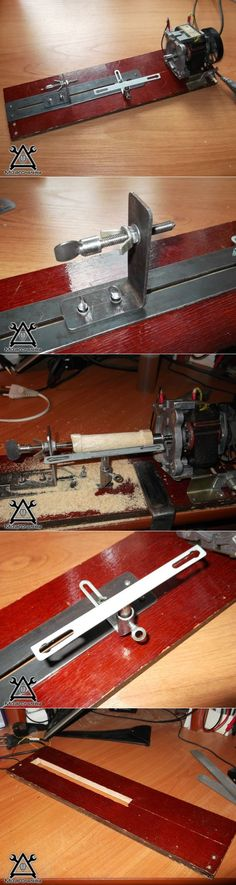 The lathe on a tree