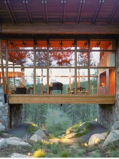 A Glass Walled-In Bridge