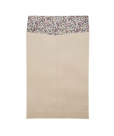 Kraft paper envelopes lined with Liberty print paper