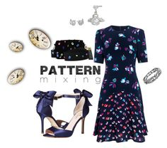 """""""Pattern Mixing"""" by laurasunshine on Polyvore featuring Rebecca Taylor, Kate Spade, Betsey Johnson and Edie Parker"""