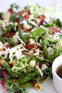 Spring Salad with Honey Chipotle Vinaigrette | The Organic Kitchen Blog and Tutorials