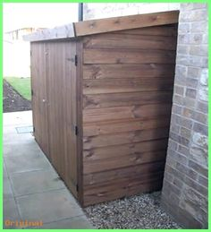 Garden - Bike shed for side of house - need lower version  #backyardsheds #cottagegarden #greenhouseideas #recycledwindowgreenhouse #shedstorage