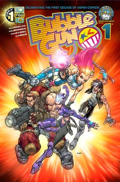 BubbleGun #1 - An all new cyberpunk action adventure story from Aspen Comics! Mark Roslan, Mike Bowden and David Curiel bring you an adventure the likes you've never seen before!