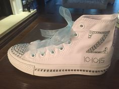 Custom Bling Converse sneakers for your special day! Bat Mitzvah, sister of the Bar Mitzvah, Sweet Sixteen, Wedding, Confirmation, Prom, Homecoming, Quincinera…. SPARKLE on your day!!